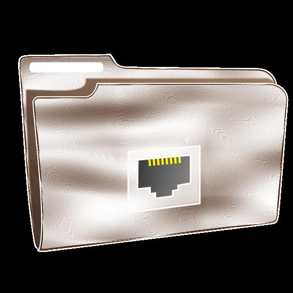 Plastic net folder vector illustration