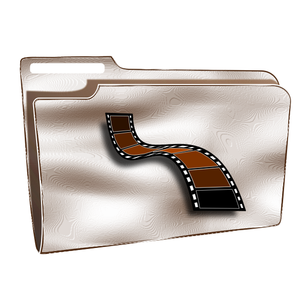 Plastic videos folder vector graphics