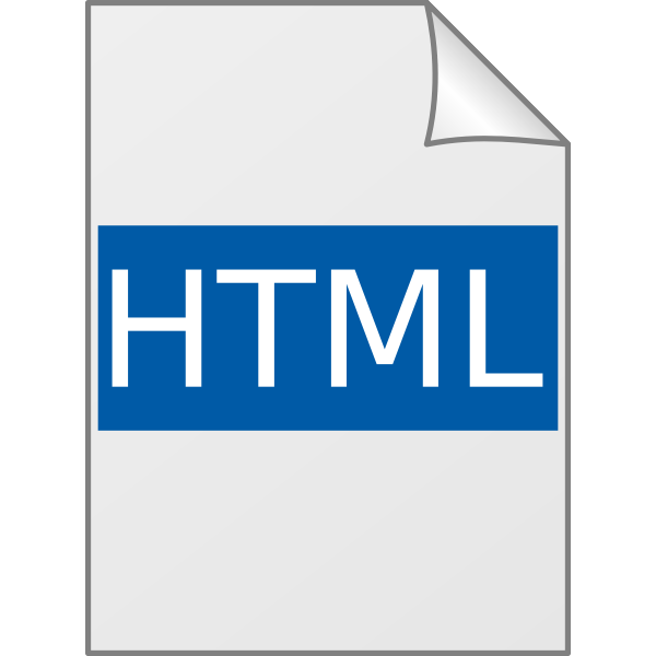 Glossy HTML icon vector illustration