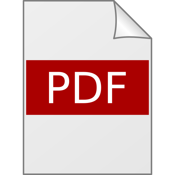 Glossy PDF icon vector drawing