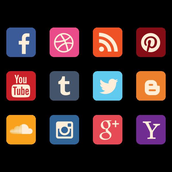 icon set social media - Free SVG