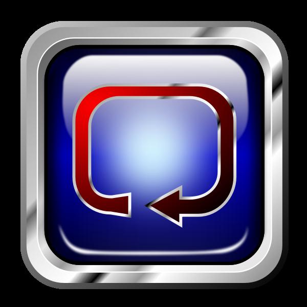 Icon Blue Multimedia Repeat