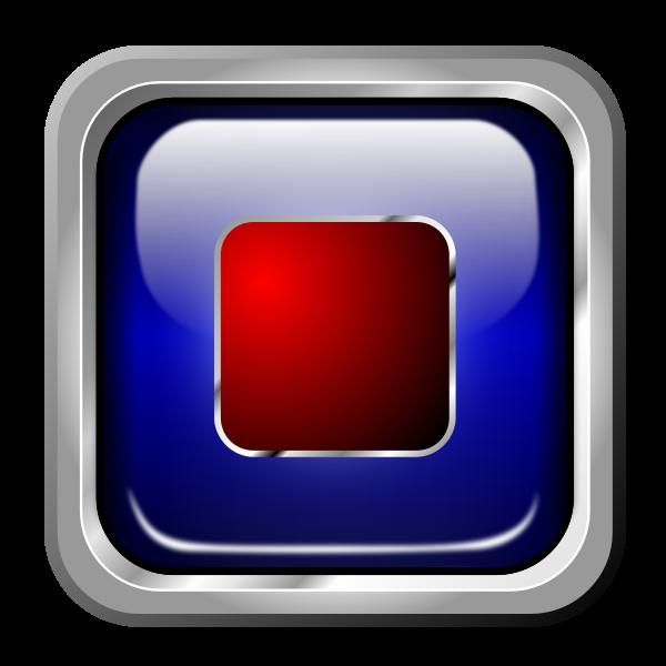 Icon Blue Multimedia Stop