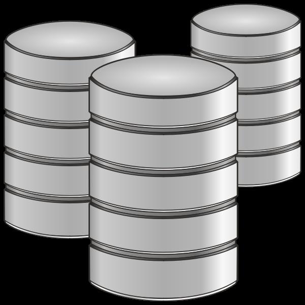 Three point database vector icon