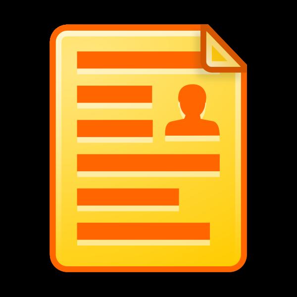 Icon document yellow