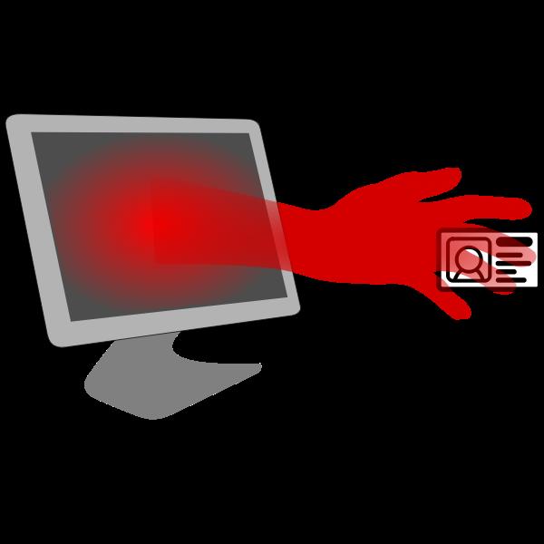 Identity theft symbol