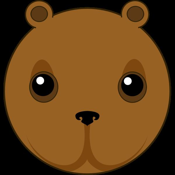 Cute bear head vector illustration