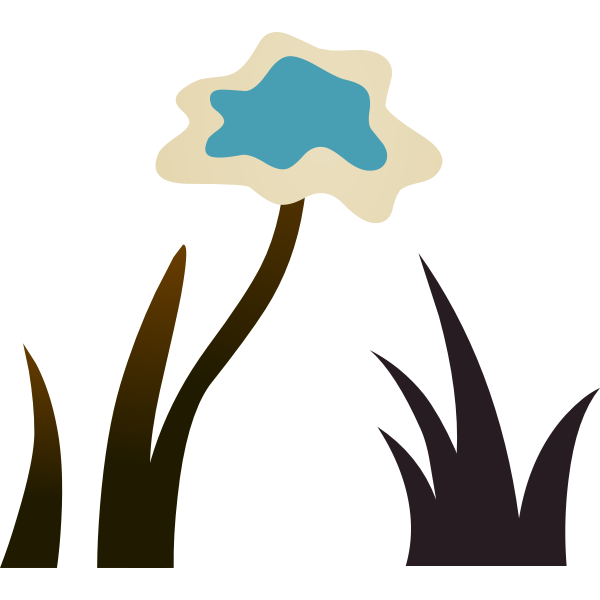 Vector illustration of dying ground plant