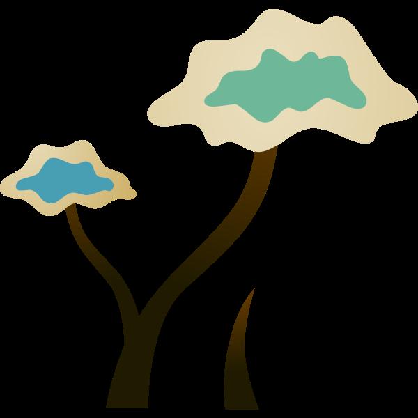 Ilmenskie brown plant vector illustration