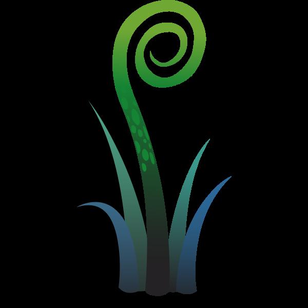 Vector clip art of ilmenskie floral plant