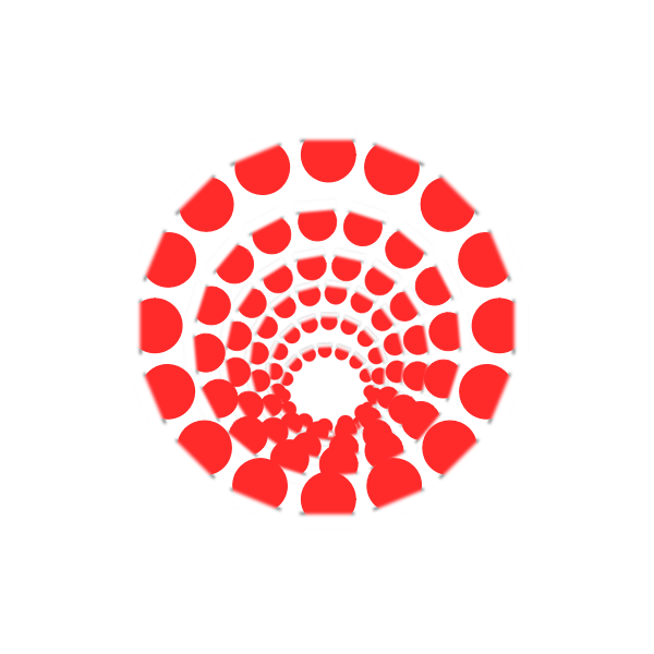 red round infinity illusion