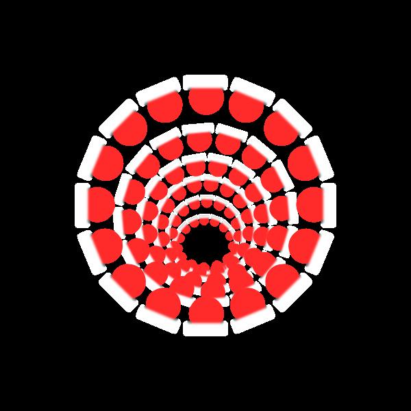 red round infinity illusion