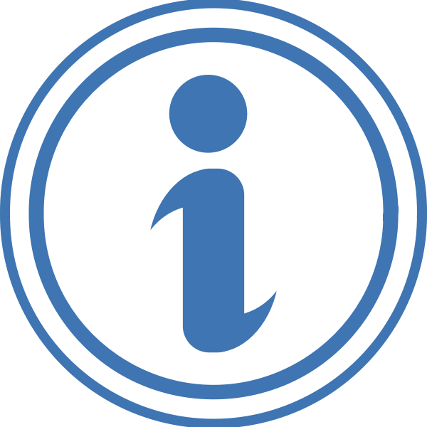 Vector illustration of simple information point icon