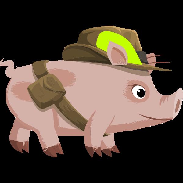 Npc pig vector drawing