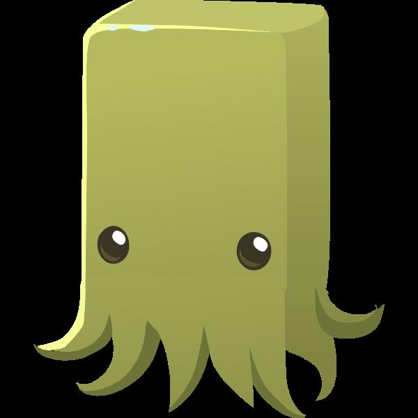 Cartoon squid