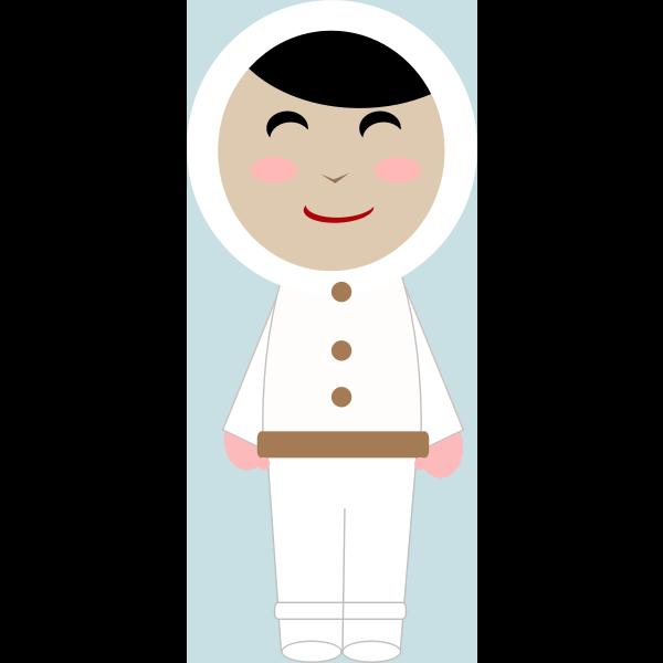 Inuit girl vector image