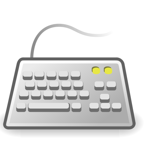 PC keyboard icon vector illustration