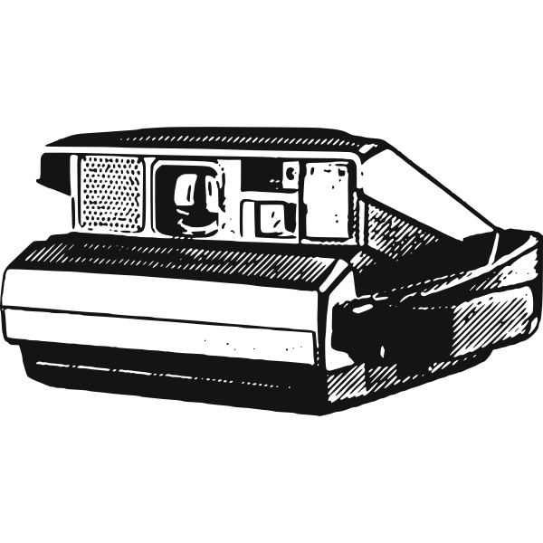Vector drawing of a instant camera
