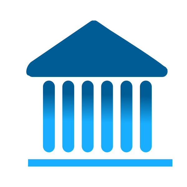 Institution icon vector
