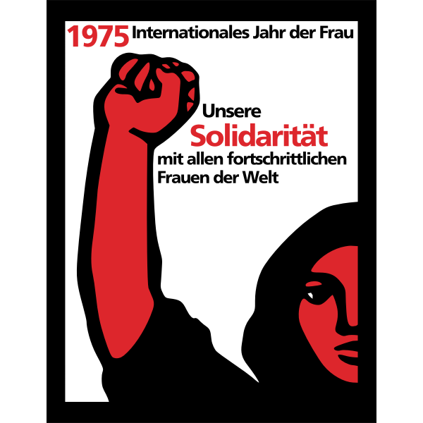 Vector graphics of banner for woman's day in German