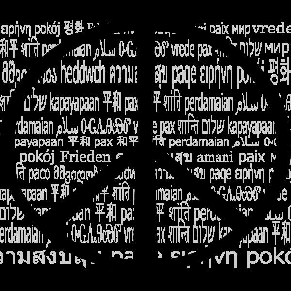 Multilingual peace mark