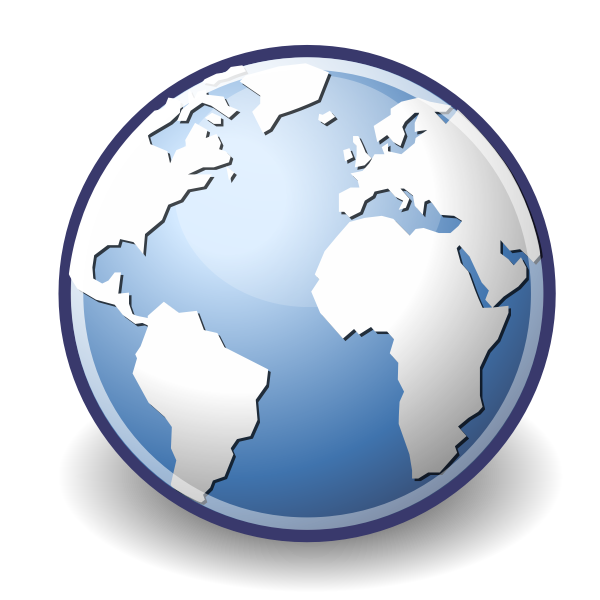 Vector image of internet web browser icon