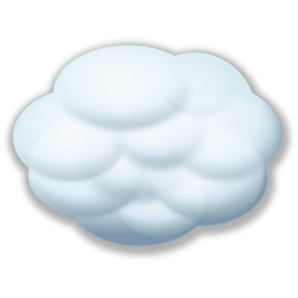 Internet cloud vector image