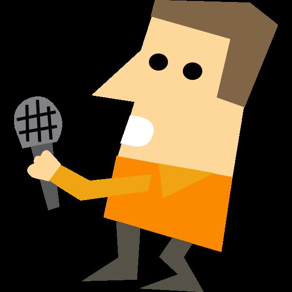 Cartoon character of a journalist