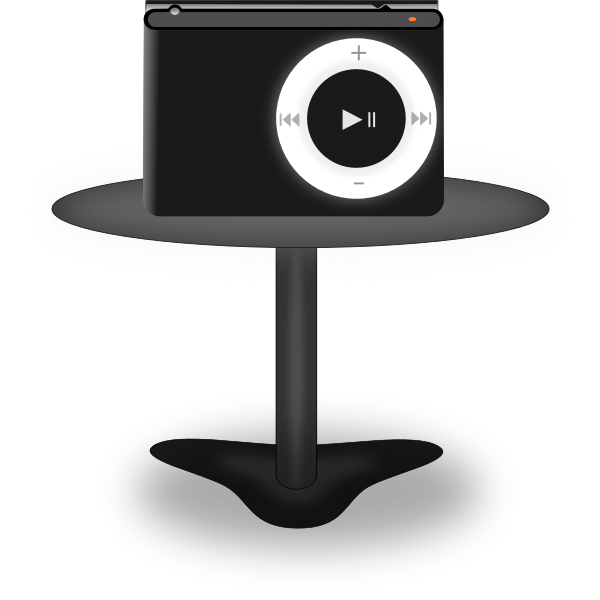 Media player on stand vector clip art