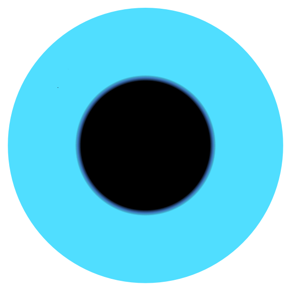 blue eye pupil