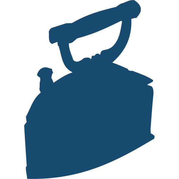Old style iron silhouette vector image