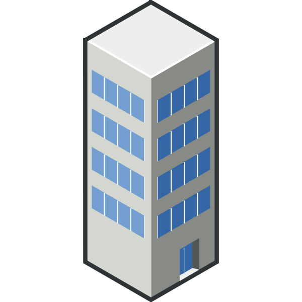 Vector graphics of building