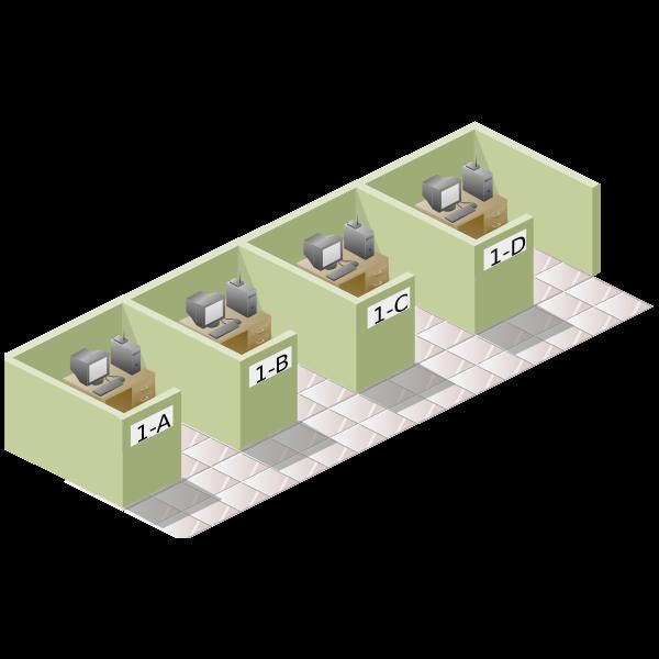 vector clip art of office box