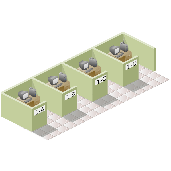 vector clip art of office box