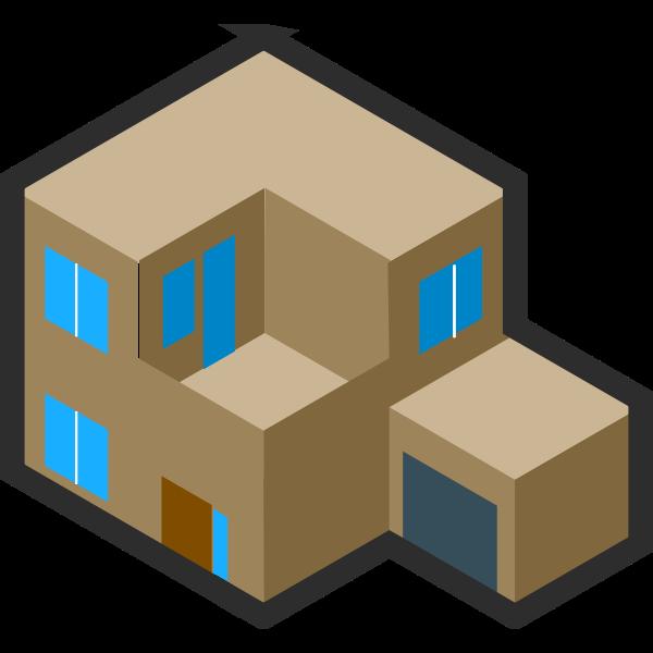 Modern house drawing