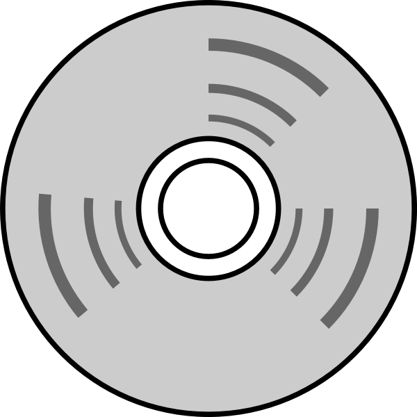 Vector line drawing of compact disc