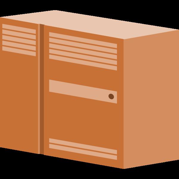Brown server vector drawing