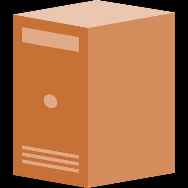 Brown net server vector graphics