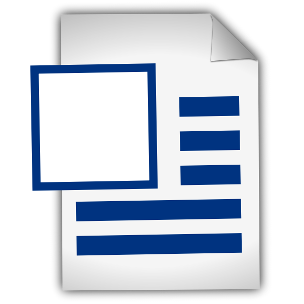 Word file icon vector drawing