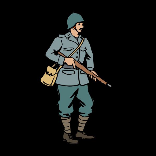 Italian soldier of WW2 vector