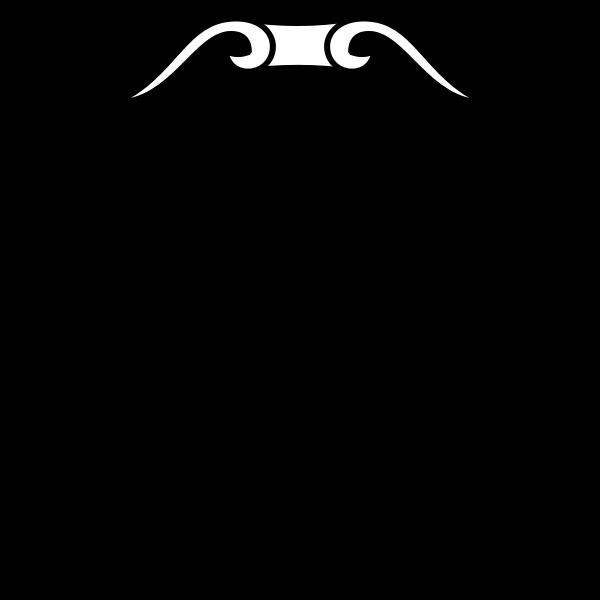 Contour vector image of a shield