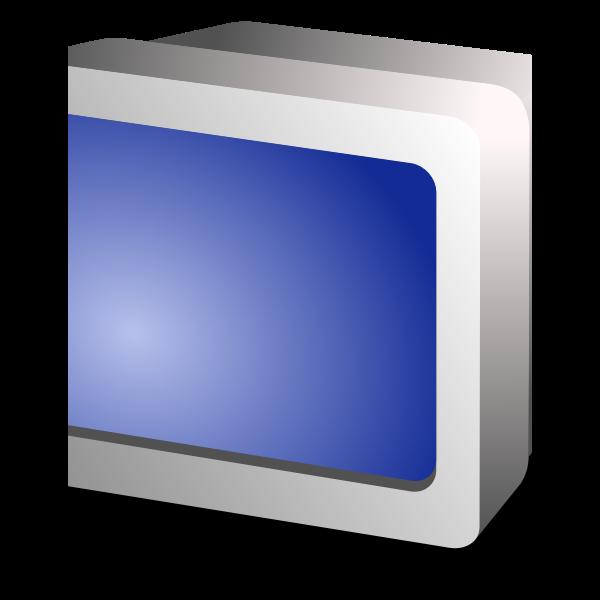 CRT display vector image