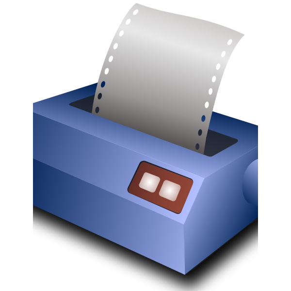 Matrix printer vector image