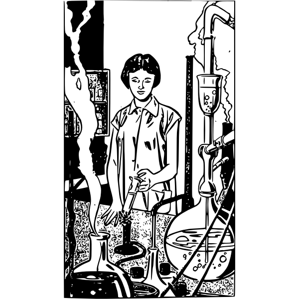 Scientist woman vector image