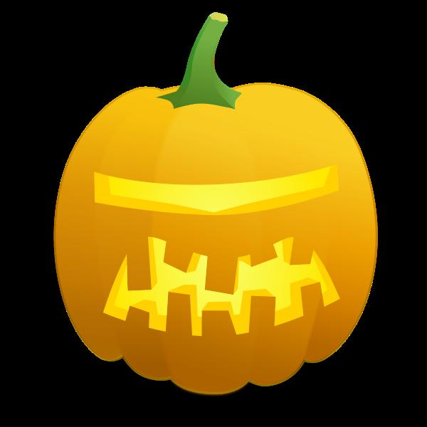 Space ship Halloween pumpkin vector drawing