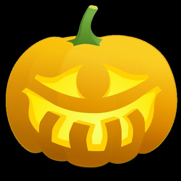 One eyed pumpkin vector illustration