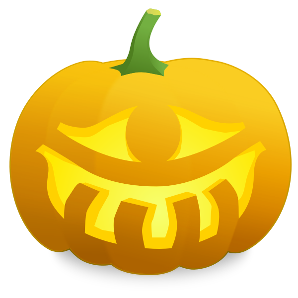 One eyed pumpkin vector illustration