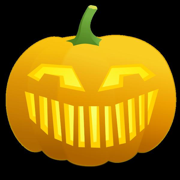 Vector illustration of jack-o-lantern scary