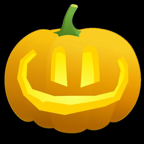 Overly smiling pumpkin vector illustration