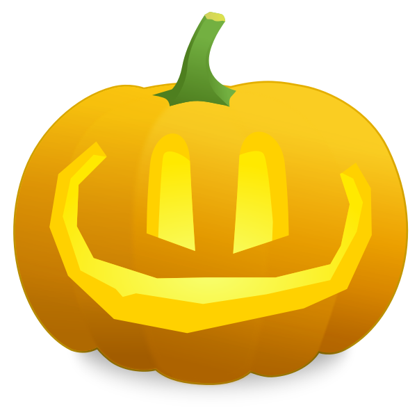 Overly smiling pumpkin vector illustration